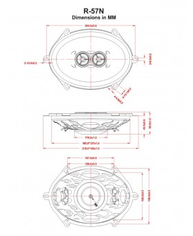 Haut-parleur oval 127x178mm - 100 watts
